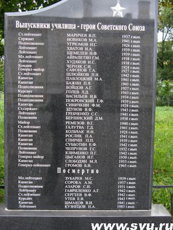 Выпускники ЛенВОКУ - Герои - выпускники СВУ